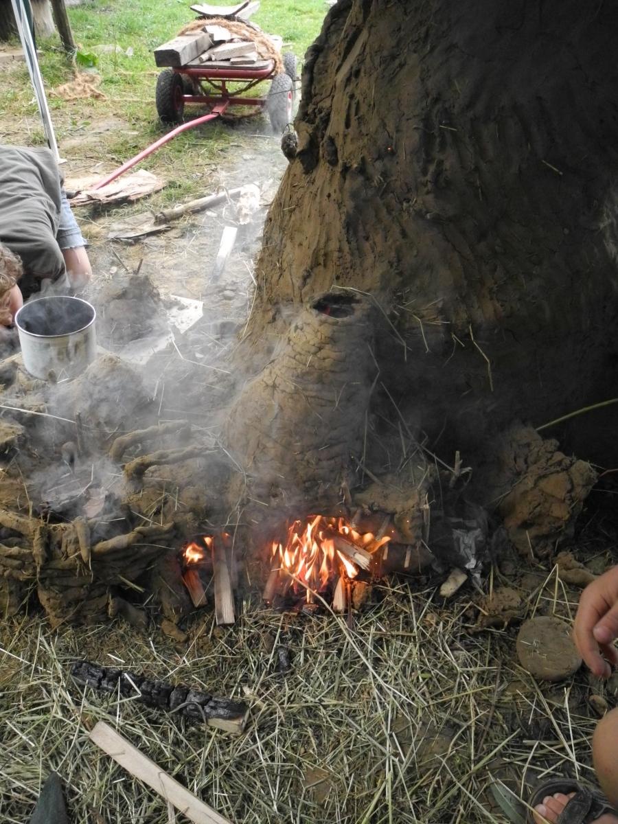 Lehm Form Feuer Drachenburgen