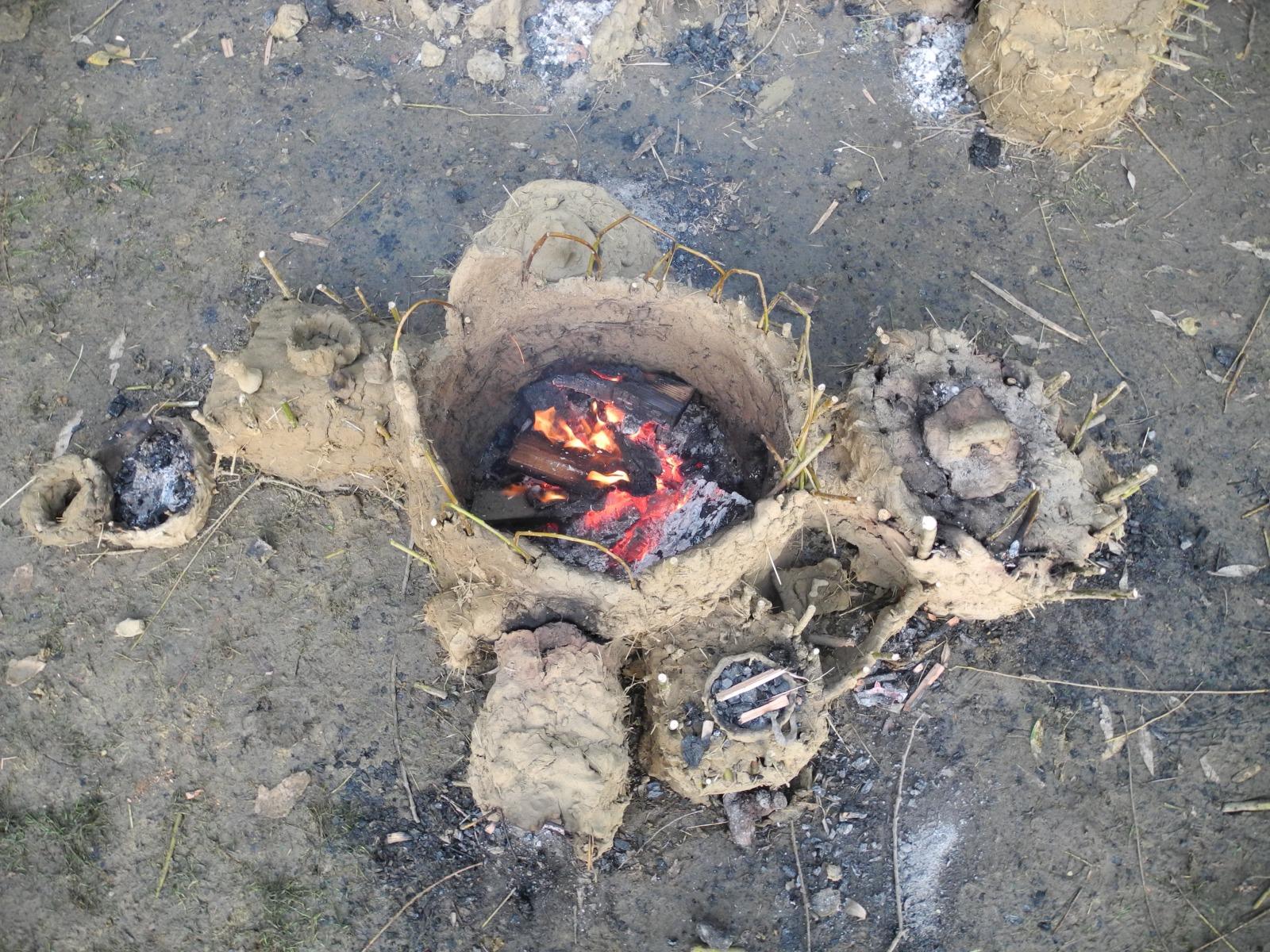 Lehm Form Feuer Drachenburg