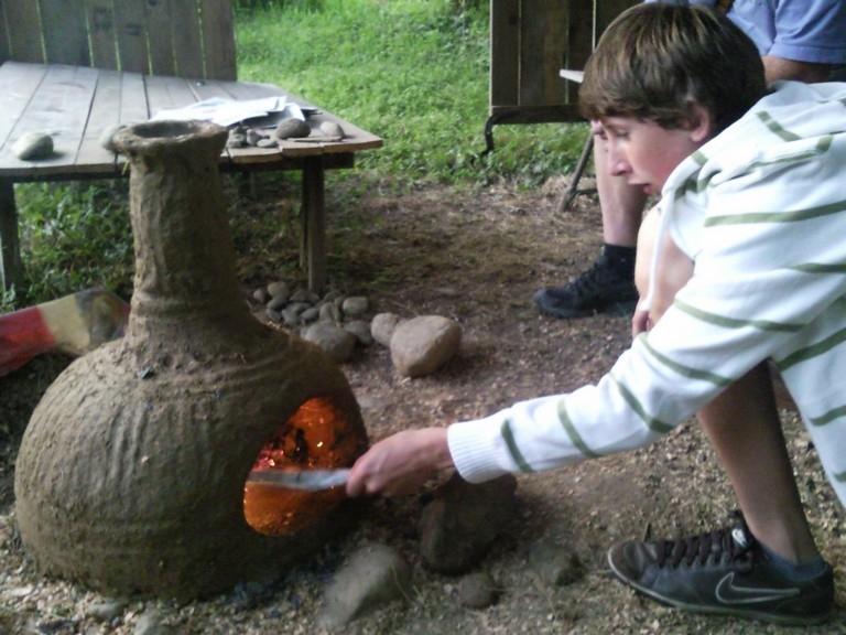 Minibrotofen erstes Mal anfeuern
