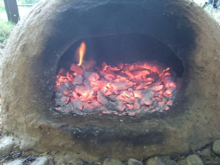 Minibrotofen wärmt auf 1