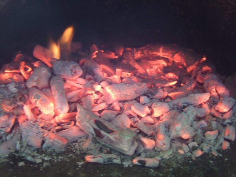 Minibrotofen wärmt auf 2